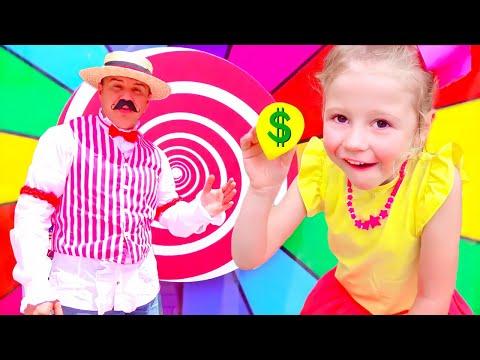 Nastya và bố chơi roulette và giành giải thưởng - Trò Chơi Thử Thách