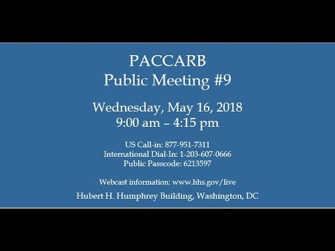 PACCARB 9th Public Meeting Part 3: Vet Antibiotic Prescribing Behavior & Plant Disease & Control