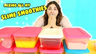 SLIME SMOOTHIE OF ALL MY SLIME SMOOTHIES | Mixing all my slime smoothies | Slimeatory #214