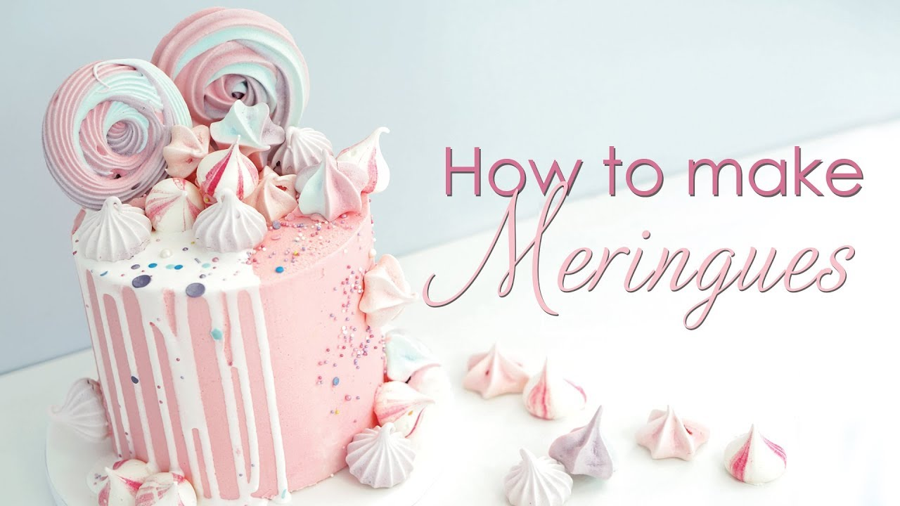 How to make Meringues to decorate your cakes - Meringue Kisses and Rosettes Recipe