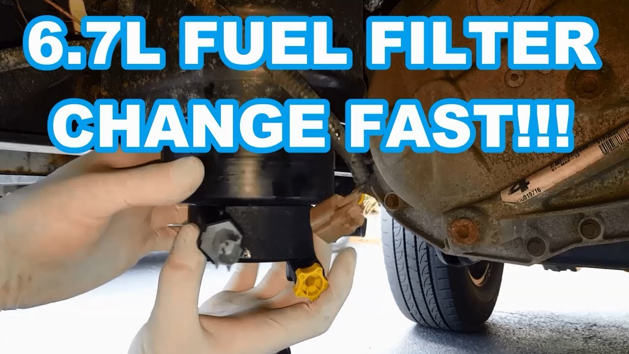 FORD 6 7L FUEL FILTER CHANGE FAST!!! 2011-2016 F350 Powerstroke how to  change fuel filters reset