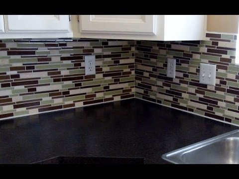 How To Install A Glass Tile Backsplash REAL DIY TIPS YouTube Best Images Of Glass Tile Backsplash Interior