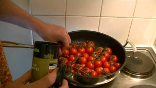 Cherry Tomatoes With White Wine & Garlic - The Punkrock-kitchen (even Punks Have A Good Taste)