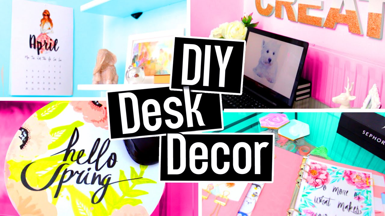 DIY DESK DECORATIONS! DIY ROOM DECOR On A Budget! Cheap ...