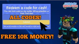 ALL WORKING CODES IN JETPACK SIMULATOR! * August * | Roblox