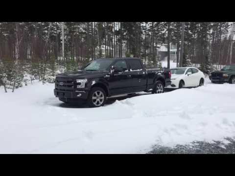 2015 Ford f150 lariat 502a v8 tuxedo black in deep snow