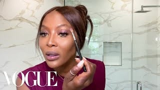 Naomi Campbell's 10-minute Beauty Routine | Beauty Secrets | Vogue