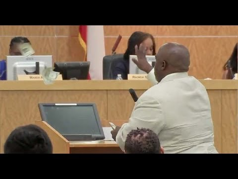 HOUSTON MAN THROWS MONEY AT SCHOOL BOARD MEMBERS AFTER ACCUSING THEM OF ONLY CARING ABOUT SALARIES!