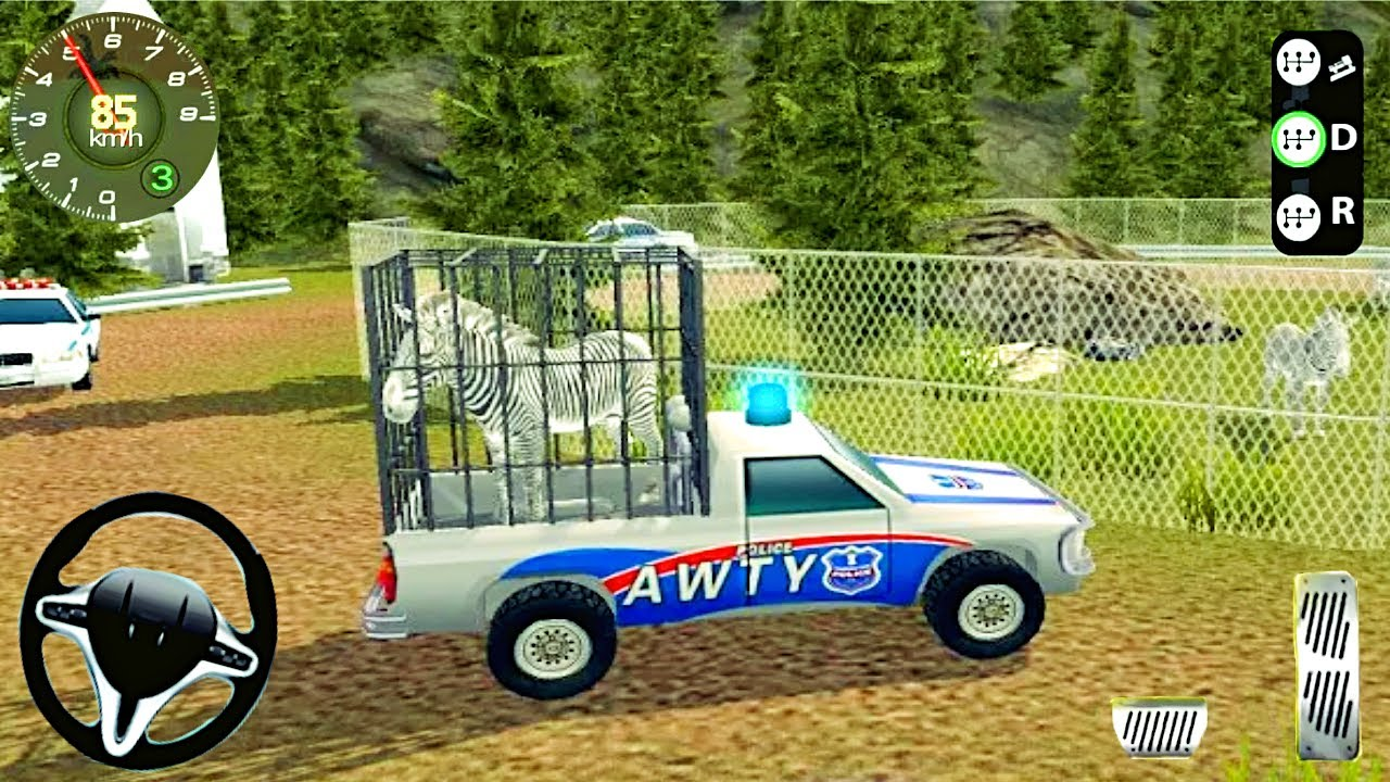 Zoo Animals Offroad Cargo Truck Game - Angry Police Transport Drive Simulator - Android GamePlay #2