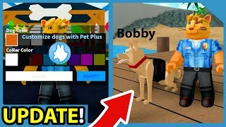 New Update! Custom Police Dogs! - Roblox Mad City