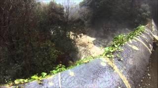 Cascade en crue - intempérie en Haute Corse