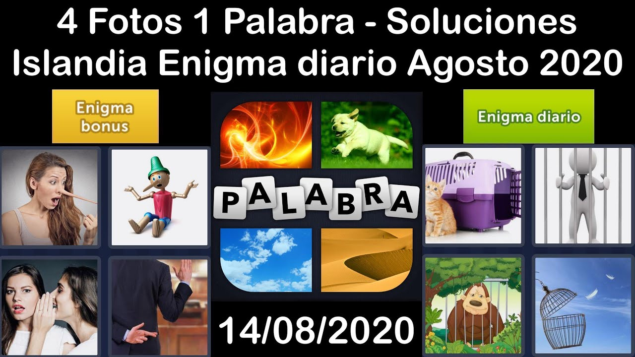 4 Fotos 1 Palabra - Islandia - 14/08/2020 - Agosto 2020 - Enigma diario + Enigma bonus - Solucion