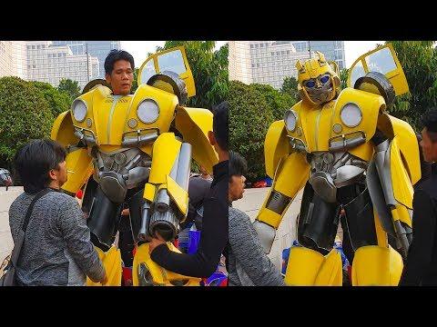 Bumblebee Suit Up Scenes || Bumblebee in real life