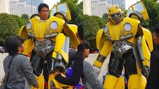 Bumblebee Suit Up Scenes || Bumblebee in real life