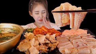 [우앙TV]제일 강하게 삭힌 흑산도 홍어와 수육 홍어애…
