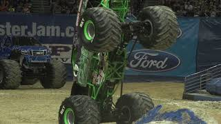 Tyler Menninga and Grave Digger Moonwalkin' into Monday in celebration of the Eclipse