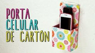 Porta Celular Reciclado de Cartón | Base para Celular/Móvil | Catwalk Cartonaje