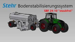Weltneuheit - Bodenstabilisierungssystem Stehr SBF 24-10 staubfrei