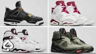 AIR JORDAN SPRING 2017 COLLECTION! Undefeated 8s? Royalty 4s and MORE!