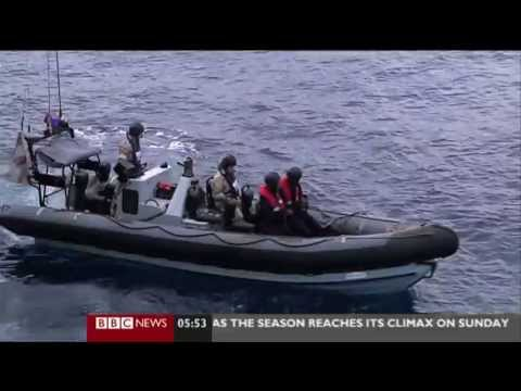 SOMALIA PIRATES CAUGHT BY WARSHIP