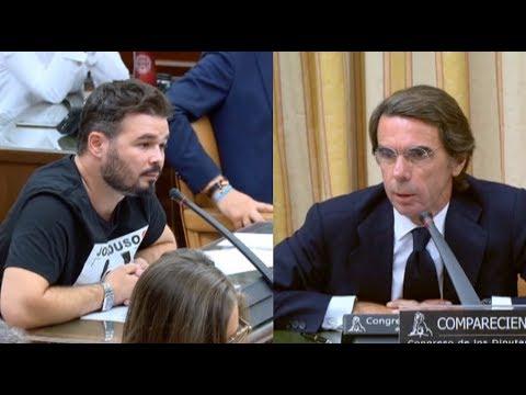 Las mejores frases de Aznar contra Rufián y Pablo Iglesias