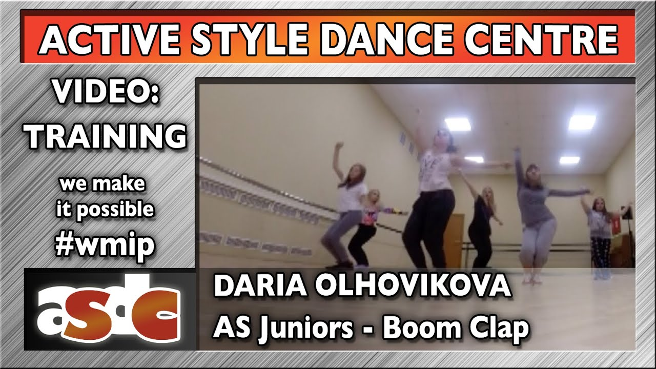 Daria olhovikova active style juniors boom clap youtube