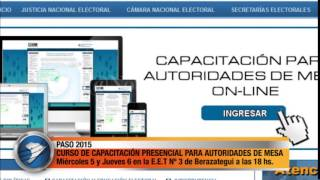 CURSO DE CAPACITACIÓN PRESENCIAL PARA AUTORIDADES DE MESA