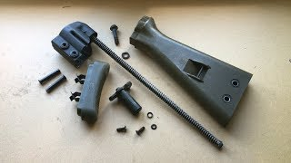 How To Disassembly H&K G3 Stock