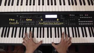 Piano Cover Dari Ulu - Armada Asalkan Kau Bahagia (Lyrics+Chords)