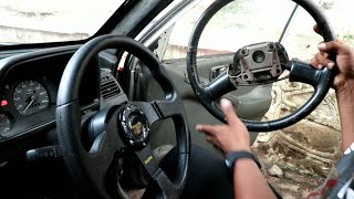 Racing steering wheel installation for all cars