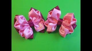 Бантики из атласной ленты 2,5 см.Beautiful bow of satin ribbons.
