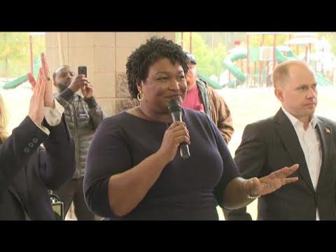 Democrat Stacey Abrams stumps in deep GOP turf
