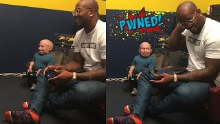 von miller of the denver broncos vs verne troyer playing nba 2k15 pwned