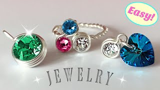 Easy DIY Rings, Earrings & Pendants Using Crystal Clay and Chatons - How To Make a Ring
