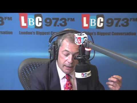 UKIP Nigel Farage on Radio LBC 97.3  - Oct 2013