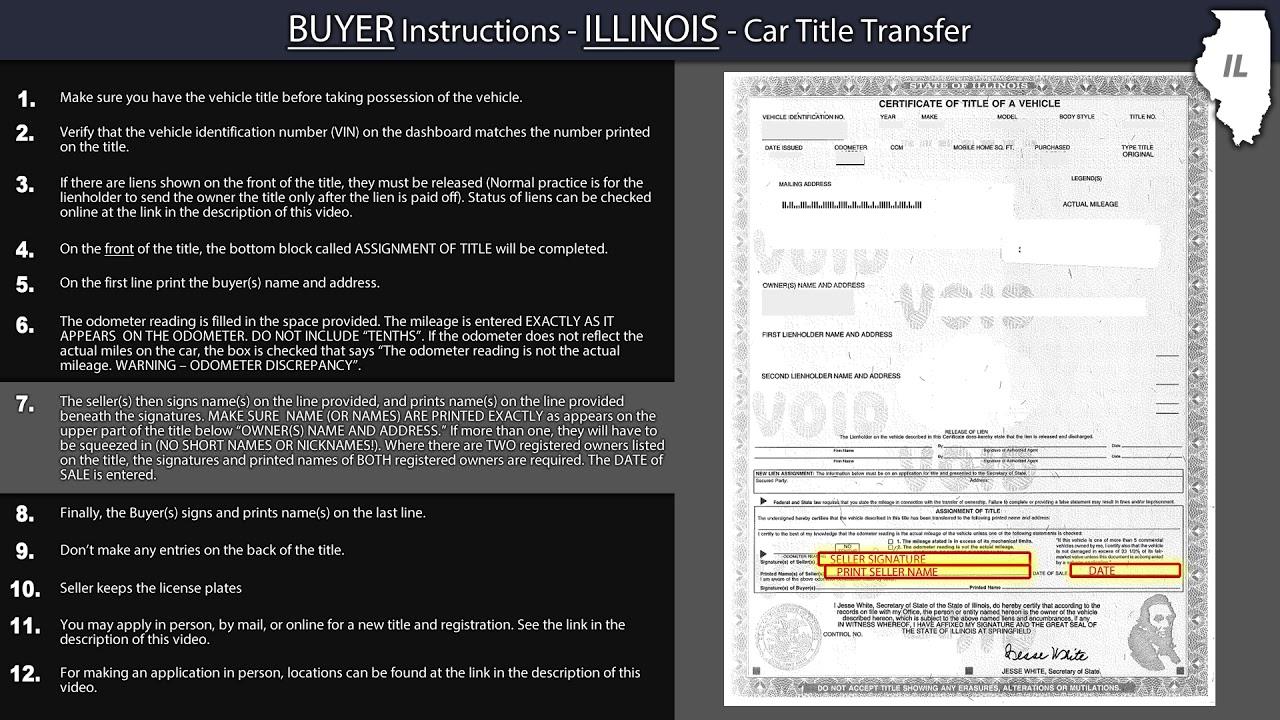 Title Transfer Illinois >> Illinois Title Transfer Buyer Instructions