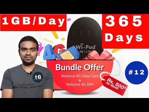 Rcom 1GB 365 Days, Idea 4g Phone, Bsnl 5G, Vodafone 1Gb, Redmi Note 4 Offer, Tech Prime #12 - 동영상