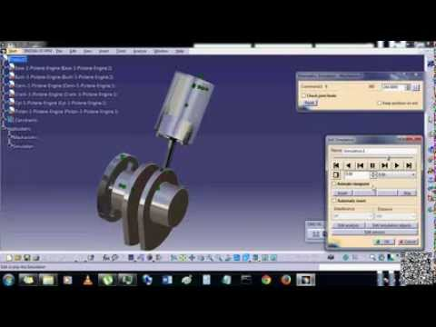 How to create animation of 3 Piston Engine in CATIA
