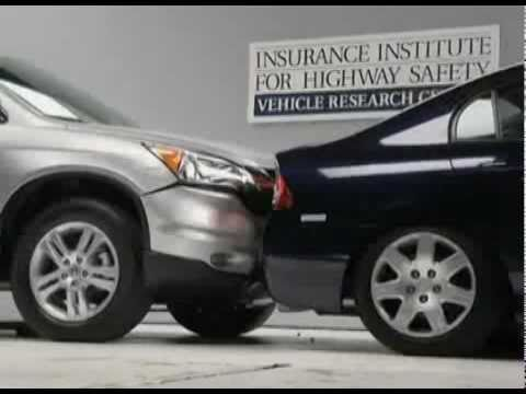 2010 honda civic vs 2010 honda cr v iihs low speed rear for Iihs honda crv