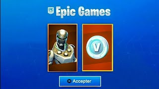 A SECRET RECOMPENSE on FORTNITE... 😱 (SKIN FREE - V-BUCKS)
