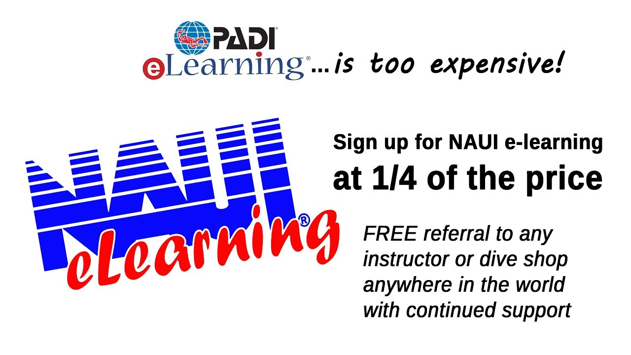 Padi Elearning Is 4x The Cost Of Naui E Learning And 14 The Value