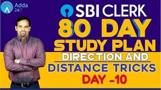 SBI CLERK PRE 80 DAY STUDY PLAN - Direction and Distance Tricks - DAY -10