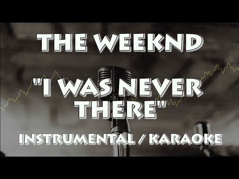 THE WEEKND - I WAS NEVER THERE (KARAOKE / INSTRUMENTAL)