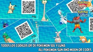 Todos los Códigos QR de Pokémon Sol y Luna / All Pokémon Sun and Moon QR Code