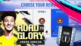 RANK #1 REWARDS!! ROAD TO THE WEEKEND LEAGUE! THE SANCHOSEN ONE #EP7 - FIFA 19 ROAD TO GLORY