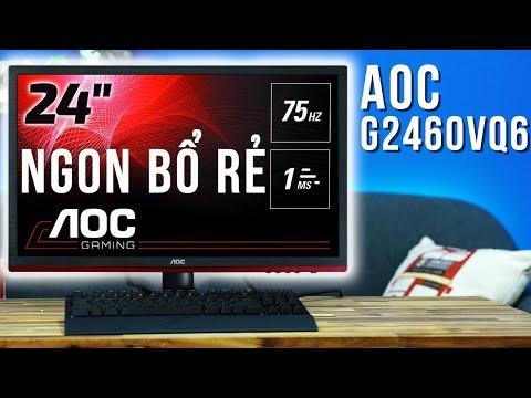 Màn Hình Chơi Game Tốt Nhất Trong Tầm Giá 3 Triệu đồng - Màn Hình AOC G2460VQ6  TNC Channel