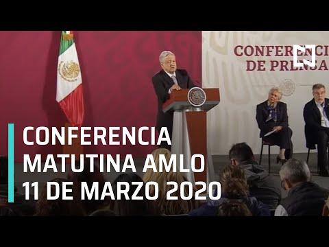 Conferencia matutina AMLO - Miércoles 11 de marzo 2020