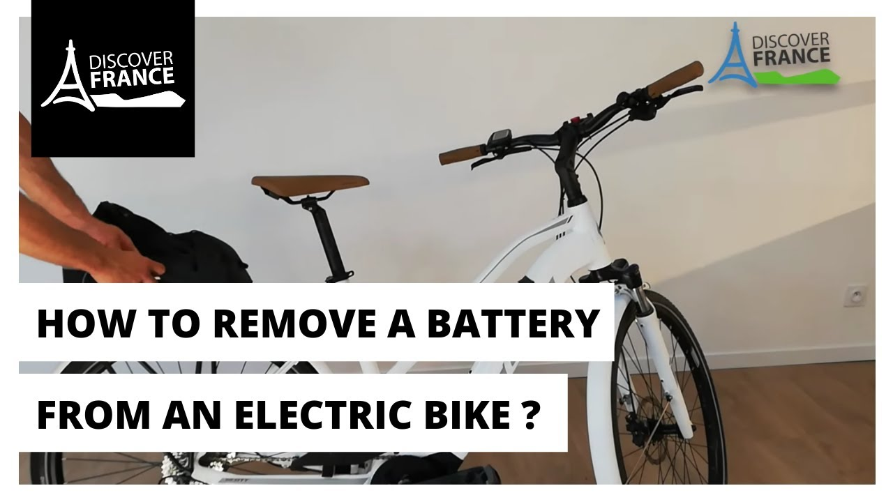 How To Remove A Battery From An Electric Bike Youtube