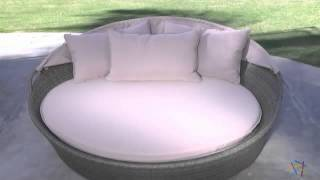 Moorea All-weather Wicker Cabana Day Bed With Canopy - Product Review Video