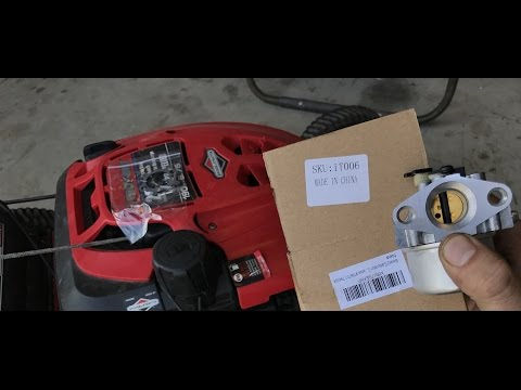 How To Replace The Carburetor On A Troy Bilt Tb130 Lawn